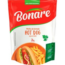 MOLHO BONARE TOM.HOT DOG SACHE 1X2KG PROF