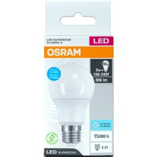 LAMP OSRAM LED BULBO BCA  9W 806LM 1X1UN 60W