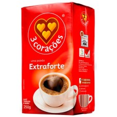 CAFE 3 CORACOES VACUO EXTRA FORTE 1X250G
