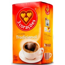 CAFE 3 CORACOES VACUO TRADICIONAL 1X250G