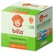 PALITO DENTAL BILLA EMBALADO 1 A 1 MENTA  1x2000UN