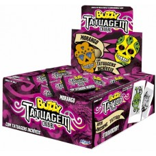 CHICLE BUZZY TATTO TRIBAL MORANGO 1x100UN
