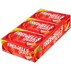 CHICLE FREEGELLS GUM MORANGO 15X1UN