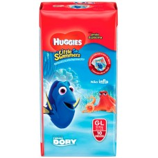 FRALDA HUGGIES LITTLE SWIMMER PRAIA PISCINA G L 1X10UN G L
