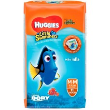 FRALDA HUGGIES LITTLE SWIMMER PRAIA PISCINA M M 1X11UN M
