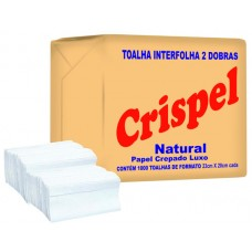 TOALHA INTERFOLHA CRISPEL 20X20 NATURAL 1x1000UN