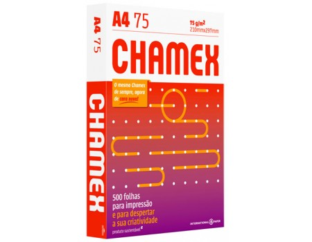 PAPEL A4 CHAMEX 75 BRANCO 1x500FL