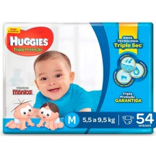 FRALDA HUGGIES MEGA TRIPLA PROTECAO M 1X54UN M