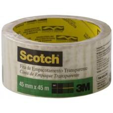 FITA FECHAMENTO CAIXA SCOTCH TRANSPARENTE 4x45M