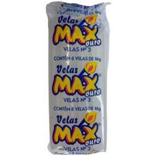 VELA MAX OURO BRANCA NR 03 16G 24x8UN