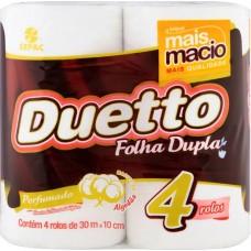 PAPEL HIGIENICO FOLHA DUPLA DUETTO PERFUMADO 16X4UNX30M