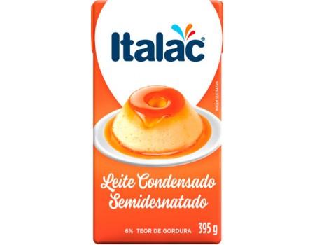 LEITE CONDENSADO ITALAC SEMIDESNATADO CX 9X395G