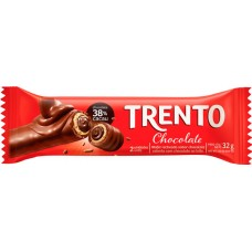 CHOCOLATE BARRA PECCIN TRENTO CHOCOLATE  WAFER 16X32G