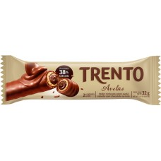 CHOCOLATE BARRA PECCIN TRENTO AVELAS WAFER 16X32G
