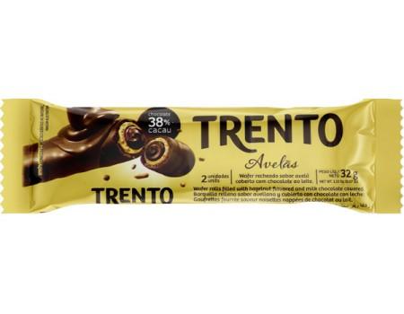CHOCOLATE BARRA PECCIN TRENTO AVELAS WAFER 16X32G