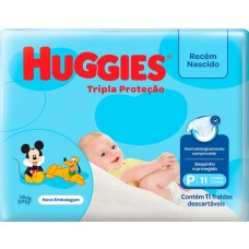 FRALDA HUGGIES PCT TRIPLA PROTECAO P 1X11UN P