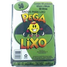 SACO LIXO PEGA LIXO 50L PRETO 25X10UN