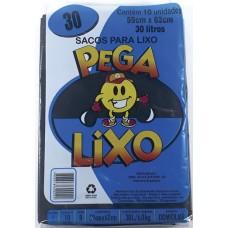 SACO LIXO PEGA LIXO 30L PRETO 25X10UN