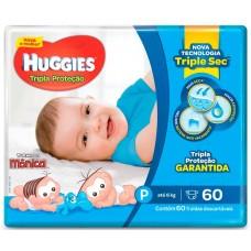 FRALDA HUGGIES MEGA TRIPLA PROTECAO P 1X60UN P