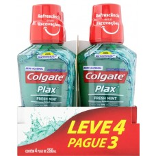 ENXAGUANTE BUCAL COLGATE PLAX FRESH MINT PROMO 1X4UNX250ML