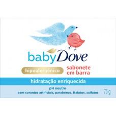 SABONETE DOVE BABY BARRA HIDRATACAO ENRIQUECIDA 12x75G