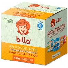 PALITO DENTAL BILLA EMBALADO 1 A 1 BAMBU 1x2000UN
