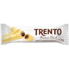 CHOCOLATE BARRA PECCIN TRENTO CHOCOLATE BRANCO DARK 16X32G