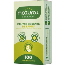 PALITO DENTAL NATURAL BAMBU 25x100UN