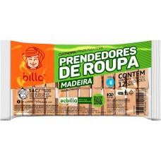 PRENDEDOR ROUPA MADEIRA BILLA 50x12UN