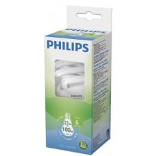 LAMPADA PHILIPS FLUORESCENTE COMPACTA TWISTER BRANCA 23W 1380LM 1X1UN 100W