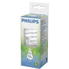 LAMPADA PHILIPS FLUORESCENTE COMPACTA TWISTER BRANCA 15W 840LM 1X1UN 70W