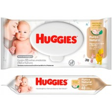 LENCO UMEDECIDO HUGGIES PURO NATURAL 1X48UN