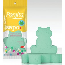 ESPONJA BANHO PONJITA INFANTIL SAPO 1X1UN