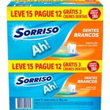 CREME DENTAL SORRISO DENTES BRANCOS PROMO 15X180G