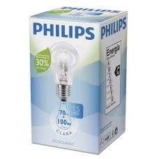 LAMPADA PHILIPS 110V HALOGENA NATURAL 70W 10X1UN 100W