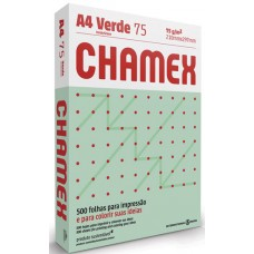 PAPEL A4 CHAMEX 210X297MM COLORS VERDE 1x500FL