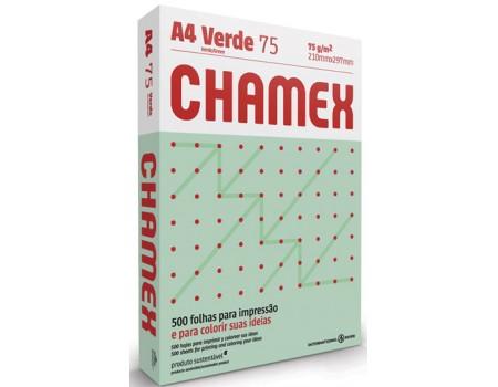 PAPEL A4 CHAMEX 75 VERDE 1x500FL
