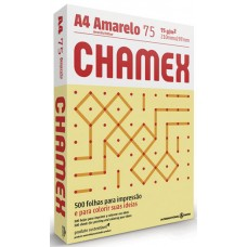PAPEL A4 CHAMEX 210X297MM COLORS AMARELINHAS ELO 1x500FL