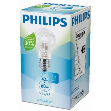 LAMPADA PHILIPS 110V HALOGENA NATURAL 42W 4X1UN 60W
