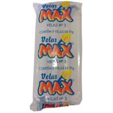 VELA MAX BRANCA NR 03 19G 12X8UN
