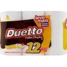 PAPEL HIGIENICO FOLHA DUPLA DUETTO PERFUM PROMO 6X12UNX30M