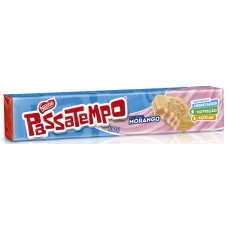 BISCOITO PASSATEMPO RECHEADO MORANGO 1X130G
