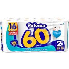 PAPEL HIGIENICO FOLHA SIMPLES PALOMA 60M NEUTRO PROMO 4X16UNX60M