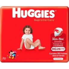 FRALDA HUGGIES MEGA SUPREME CARE XG 1X26UN XG