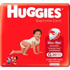 FRALDA HUGGIES SUPREME CARE JUMBO G 1X20UN G