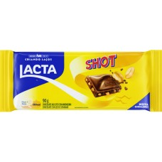 CHOCOLATE BARRA LACTA SHOT AMENDOIM 17X90G