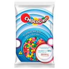 CHOCOLATE GRANULADO CHOCOGIROS DRAGEADOS MINI PASTILHAS 1X500G