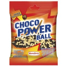 CHOCOLATE GRANULADO CHOCO POWER BALL DRAGEADOS MINI AO LEITE BRANCO 1X80G