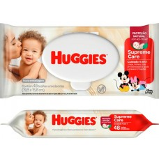 LENCO UMEDECIDO HUGGIES SUPREME CARE 1X48UN