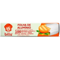 FOLHA ALUMINIO BILLA 30CMX100M 1x1UN